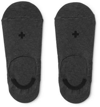Beams Mélange Cotton-Blend No-Show Socks