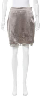 Schumacher Laser Cut Silk Skirt w/ Tags
