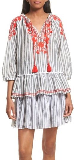 Women's Kate Spade New York Embroidered Peasant Top