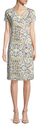 Max Mara Odean Printed Short Sleeve Dress