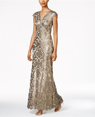 Tadashi Shoji Sequined Lace Gown $428 thestylecure.com