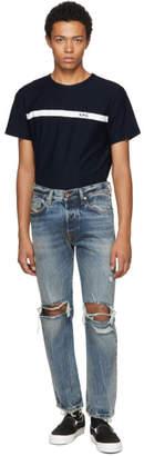 Diesel Blue Mharky L.32 Knee Rips Jeans