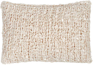 "Ann Gish Art Of Home By Ribbon-Knit Pillow, 14"" x 20"""