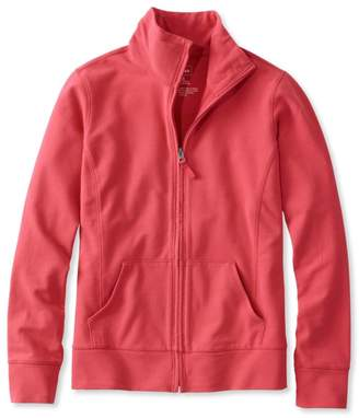 L.L. Bean L.L.Bean Ultrasoft Sweats, Full-Zip Mock-Neck Jacket