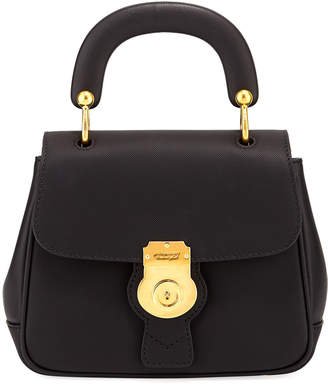 Burberry Trench Small Leather Top Handle Bag, Black