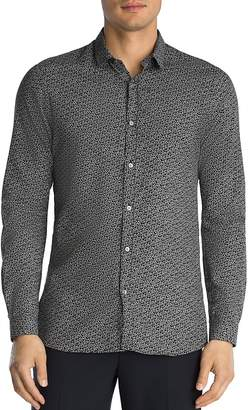The Kooples Dark Butterfly Slim Fit Button-Down Shirt
