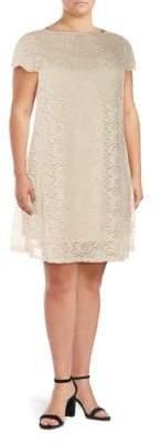 Marina Plus Lace A-Line Dress