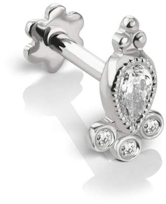 Maria Tash Diamond Delia Thread Through Single Earring - White Gold