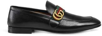 Gucci Leather loafer with GG Web