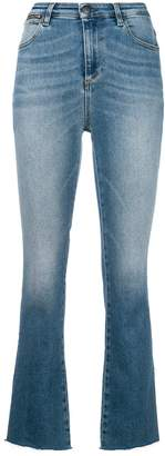 Acynetic flared cropped jeans