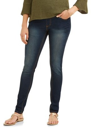 Oh! Mamma Maternity Full-Panel Super Soft Skinny Jeans - Available in Plus Sizes