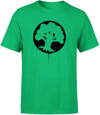 Magic The Gathering Green Mana Splatter Men's T-Shirt