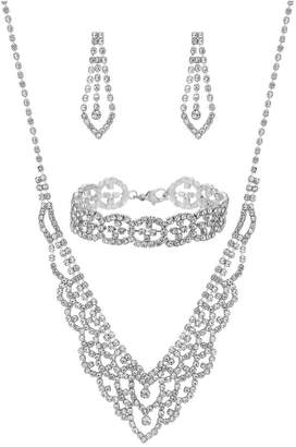 Jon Richard Jewellery Silver Crystal Diamante Jewellery Set