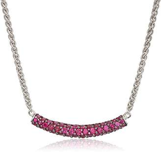 Effy Womens 925 Sterling Silver Ruby Necklace