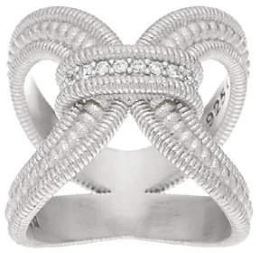 Judith Ripka Sterling Verona Diamonique OpenWork Ring
