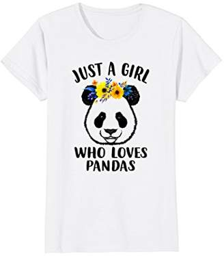 DAY Birger et Mikkelsen Just A Girl Who Loves Pandas Gift Mothers Funny Tshirt