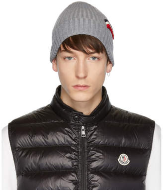 Moncler Grey Tricot Beanie
