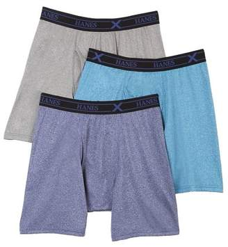Hanes UPB1A3 X-Temp Assorted Performance Boxer Briefs - 3 Pack