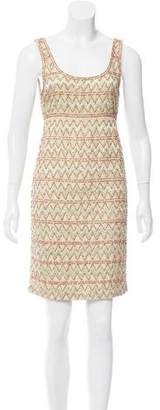 Alice + Olivia Sleeveless Embellished Dress