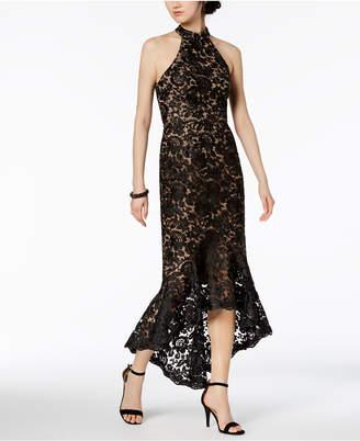 Xscape Evenings Lace Mock-Neck Gown