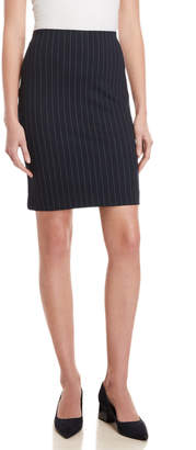 Premise Pinstripe Ponte Pencil Skirt