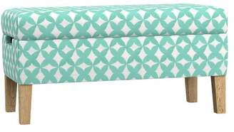 Pottery Barn Teen Ellie Storage Bench, Reagan Geo Pool