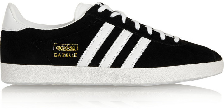 adidas Originals Gazelle OG suede and leather sneakers