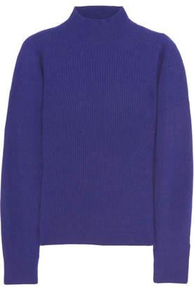 Mugler - Ribbed Cashmere Sweater - Royal blue $785 thestylecure.com