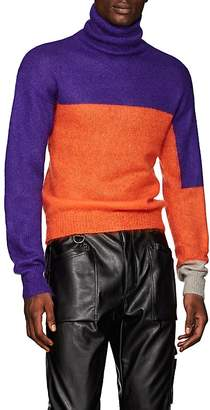 LANDLORD Men's Colorblocked Mohair-Blend Turtleneck Sweater