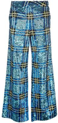 Ashish checked sequin trousers