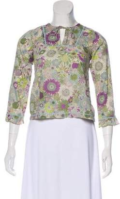 Papo d'Anjo Girls' Floral Print Top