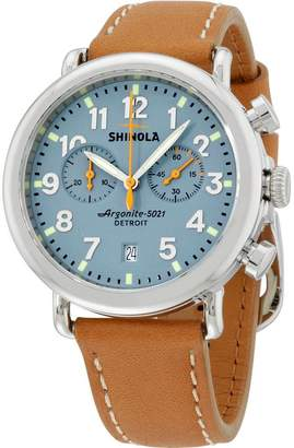 Shinola Men's The Runwell 41mm Leather Band Steel Case Quartz Watch S0100097