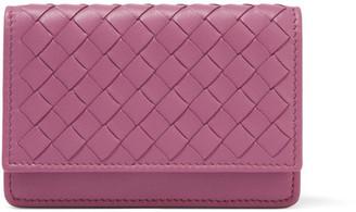 Bottega Veneta - Intrecciato Leather Cardholder - Purple $320 thestylecure.com