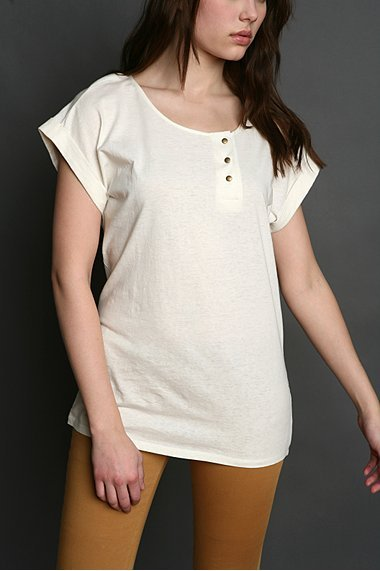 Urban Outfitters Mirror/Dash Rolled Cuff Tee