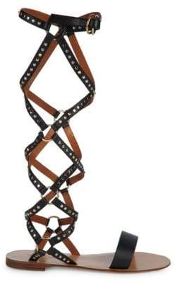 b0cc2a4f595a Studded Gladiator Sandals - ShopStyle