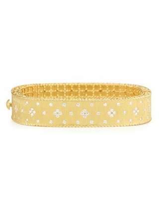 Roberto Coin Princess 18K Yellow Gold Medium Diamond Bangle