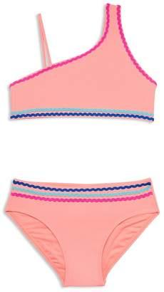 9bfae61b14995 Gossip Girl Girls' Asymmetric Two-Piece Swimsuit - Big Kid