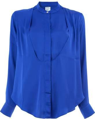 Maison Rabih Kayrouz crepe collarless blouse