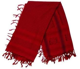 John Galliano Fringe-Accented Knit Shawl