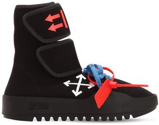 Off-White Moto Wrap Neoprene High Top Sneakers