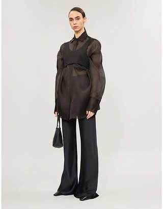 The Row Claire silk-organza shirt