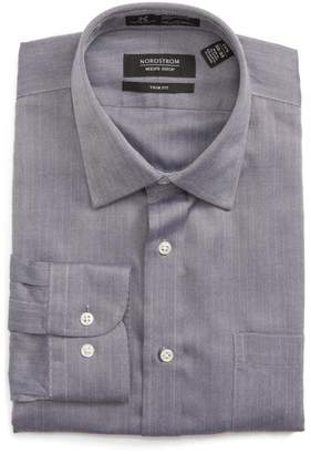 Nordstrom Trim Fit Herringbone Dress Shirt