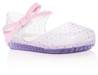 Mini Melissa Girls' Mini Furadinha X Perforated Mary Jane Flats - Walker, Toddler