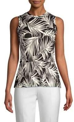 BOSS Emirna Palm Print Blouse