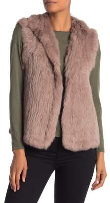 Bagatelle Genuine Dyed Rabbit Fur Spread Collar Vest