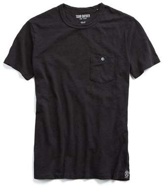 Todd Snyder Classic Pocket Tee in Jet Black