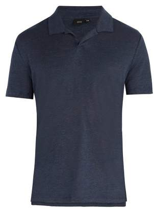 Onia Shaun Solid Polo Shirt - Mens - Dark Navy