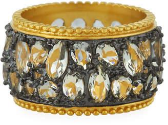 Freida Rothman Rose Dor Cigar Band Ring, Size 7