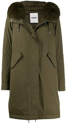 Yves Salomon Army fox fur trim parka coat