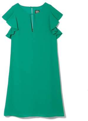 Vince Camuto Flutter-sleeve Keyhole Dress